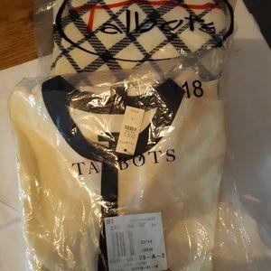 Talbots Ivory & Black Silk Shirt